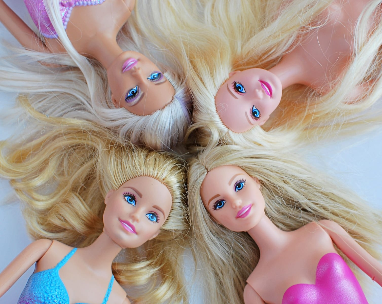 Barbie dolls with blonde hair. Popular toys for girls, May 14, 2018 in Vilnius, Lithuania.