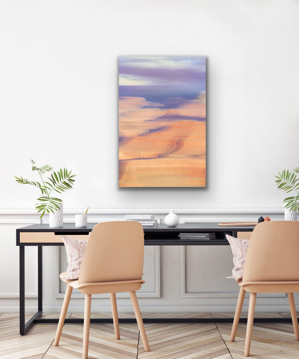 """""""Dry Spell Breaks"""" creates the perfect art over a desk for inspiration."""